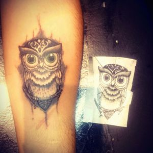 Owl tattoo. #eternalink #owl #zuperblack #intenze #electricink #argentina #welkerneedles #tinta