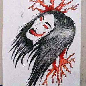 Otro __________________________ #tattoodesing #tattoo #neotraditional #portrait #sea #octopus #monster #girl #TattooGirl