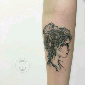 #megandreamtattoo #blackandgrey #black #tattoo #tattoed #tattooos #sketch #original #design #librarians #Library #book #books #tattoodo #ink #art #inked #tattooart #blackwork