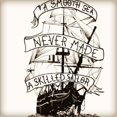 Boat Quote #black&grey #ship #quote #inspirational
