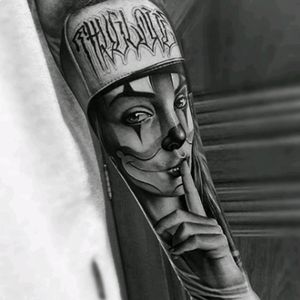 #Samuraistandoff #Chicano #ChicanoStyle #Realism #Portrait #BlackandGrey #Girl #Chola #Payasa #Thug