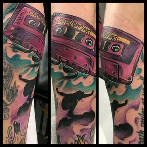 Vintage cassette #colours #colourtattoo #cassette #cassettetape #cassettetattoo #glasgow #glasgowink #glasgowtattoo #tattooglasgow #scotland #scotlandtattoo