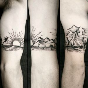 By #ThomasEckeard #armband #california  #forest #mountains #cactus #sun #palmtree #ocean