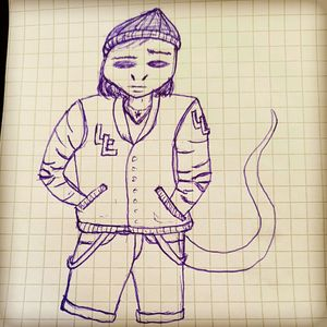 Lizard doodle