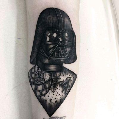 Darth Vader #darthvader #starwars #starwarstattoo #armtattoo #greattattoo