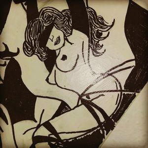 #skitze #dreamtattoo #tattoo #tattoos #frau #bondage #sm #augenbinde #nackt #artist #mone1971