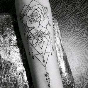 Almost done! #unalome #tattoo #flower #rose #geometric #lotus #lotustattoo