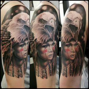 #eagle #firstnations #native #sexy #woman #realism