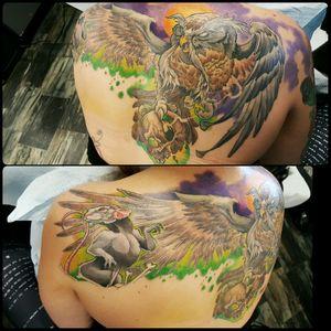 #owl #backpiece #secretofnimh #skull #skulltattoo