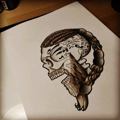 #skull #viking #ragnarlothbrok #traditional