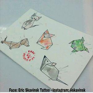 Origamis aquarelados disponíveis.🐈🐕🐀🐸 Agendamentos e orçamentos pelo telefone (11)993776985 E-mai: ericskavinsk@gmail.com Instagram: @skavinsk #ericskavinsktattoo #drawing4tattoo #tos #origami #aquarela #watercolor #tattoogato #tattoocachorro #tattooraposa #tattoosapo #tattoorato #cattattoo ##dogtattoo #foxtattoo #mousetattoo #geometrictattoo #tattoogeometrica #electricink #extremeskincare #tattoodo #tattoodobr #tattoo2me #tattooguest #tguest #artfusion #artfusionsupply #thpro #tatuagemmultimidia #cutetattoo #follow4follow #like4like #ttblackink