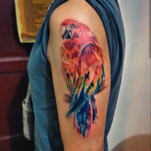 WhatsApp 3143621087. #watercolor #watercolortattoo #tatuadorescolombianos #ibague