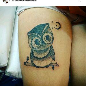 Trabalho de hoje Coruja pontilhismo #andrealvestattooartist #andrealvestattoosp #tattoobrasil #tatuadoresbrasileiros #tattoolife #electricink #electricinkbrasil #tattoopontilhismo #pontilhismo #tattoocoruja #tattoobr #tattoobrazil