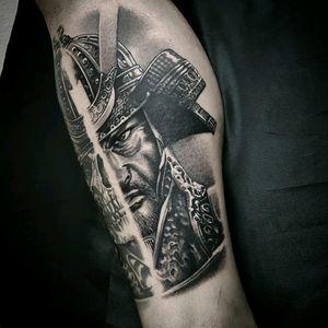 Awemose samurai by @Dallier  #samurai #japones #japanese #blackandgrey #pretoecinza #realismo #realism #tatuadoresdobrasil #AlexandreDallier