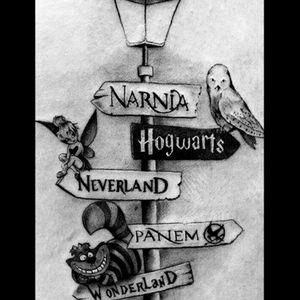 #awsome #childhood #dreamtattoo #fantasy #neverland #narnia #hogwarts #wonderland