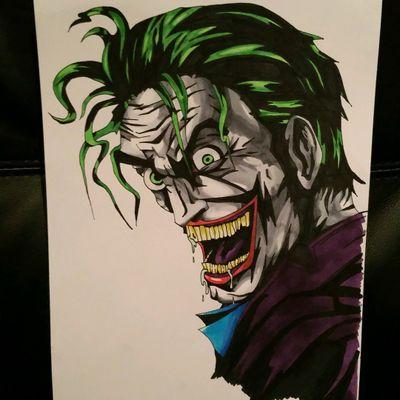 #thejoker #joker #batman #harleyquinn #colour #color #copic #drawing #sketch