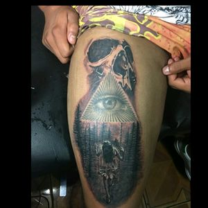 skull swing #blackandgreytattoo #tattooartist #orlynlobo