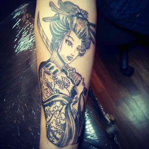 #tattoo #japanesetattoo #geishatattoo #armtattoo #spaintattooartist #spaintattoo #killerinktattoosupplies #Intenzetattooink #intenzeink