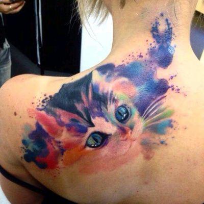 For the catlovers. Adam Kremer #gato #cat #pet #colorida #colorful #aquarela #watercolor #AdamKremer