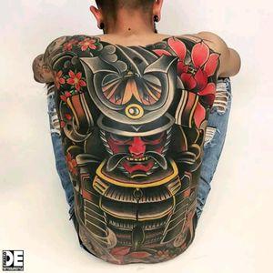 Amazing backpiece by Pablo De Vivo. #tattoodo #TattoodoApp #tattoodoBR #oriental #samurai #colorida #colorful #tradicional #traditional #PabloDeVivo