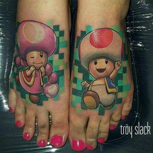 Amazing Toad tattoo by Troy Slack #tattoodo #TattoodoApp #tattoodoBR #toad #nintendo #gamer #games #nerd #geek #TroySlack