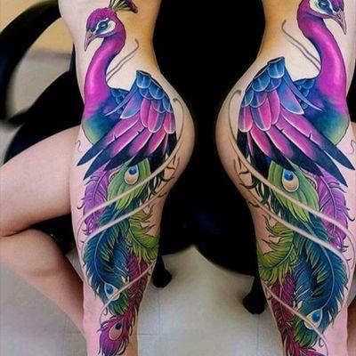 Incredible color tattoo by Suvorov #tattoodo #TattoodoApp #tattoodoBR #pavao #peacock #colorida #colorful #Suvorov