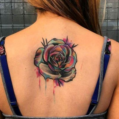 Watercolor tattoo by Little Andy #tattoodo #TattoodoApp #tattoodoBR #flor #flower #aquarela #watercolor #colorida #colorful #LittleAndy