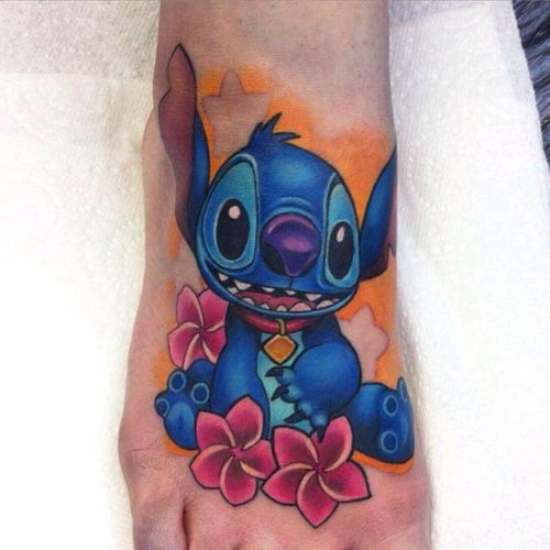 Stitch by Michelle Maddison #tattoodo #TattoodoApp #tattoodoBR #disney #stitch #comics #cartoon #quadrinhos #colorida #colorful #nerd #MichelleMaddison