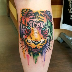 #tiger #watercolour #watercolourtattoo #colourtattoo #abstract #tigertattoo