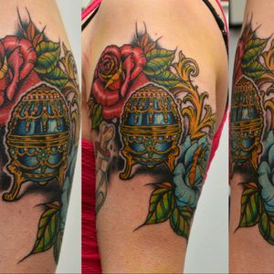 Pure joy tattoing this neo trad piece... single session..