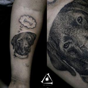 #blackwork #RafXimenes #tattoo #dotwork #pontilhismo #pontillism #dog #animaltattoo #brazil #brazilianartist