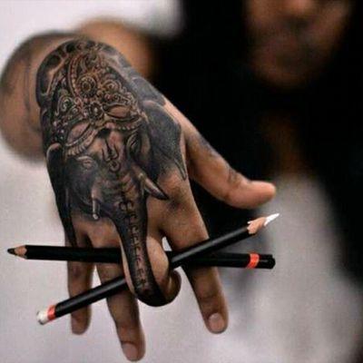 UnknownArtist #Ganesha #Hinduism #Religious #Blackwork