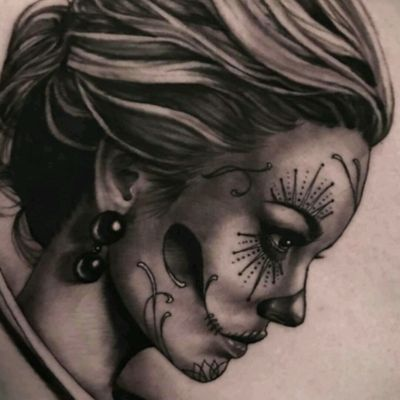 #TimEvans #Catrina #Realism #BlackandGrey #Girl
