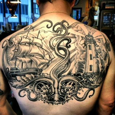 #octopus #OceanTattoos #marinetattoo i love this ... it s a amazing jobs