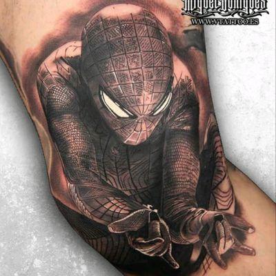Spider Man by Miguel Bohigues #tattoodo #TattoodoApp #tattoodoBR #spiderman #homemaranha #realismo #realism #pretoecinza #blackandgrey #comics #nerd #hq #quadrinhos #geek #MiguelBohigues
