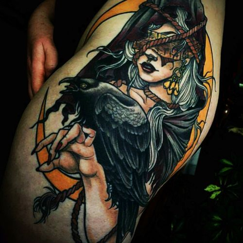 #neotraditional #witchtattoo #colortraditional i love this ...
