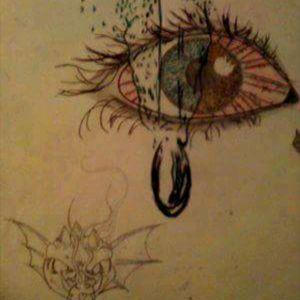 #Eye #teardrop #fireandwater #dragon