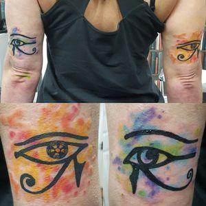 #eye #eyes #eyeofhorus #eyeofra #watercolor #watercolortattoo
