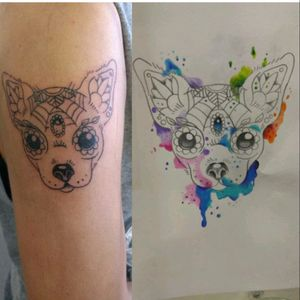 #watercolor #notdoneyet #followme #art #Chihuahua