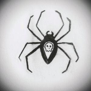 Spider💀 #tete #tattoo #sketchtattoo #sketch #spider #tattooapprentice #pencil #skull #darktattoo