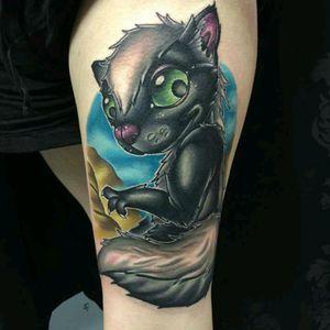New School cat by Liam Jackson #tattoodo #TattoodoApp #tattoodoBR #gato #cat #colorida #colorful #newschool #LiamJackson