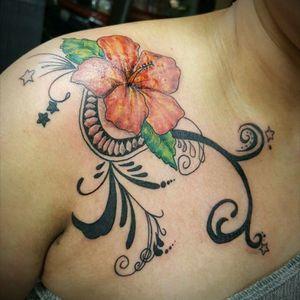 #floral #hibiscustattoo  #polynesian