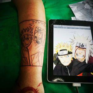 Naruto and Jaraya. #Naruto #jiraya #family