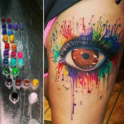 Ultra colorful eye by Greg Brown #tattoodo #TattoodoApp #tattoodoBR #colorida #colorful #olho #eye #arcoiris #rainbow #GregBrown