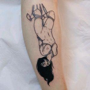 Shibari by @sad_amish_tattooer #nsfw #shibari #bondage #blackwork