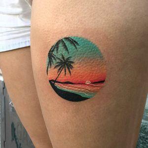 By #dariastahp #palmtree #beach #sunset #summer #ocean #palm