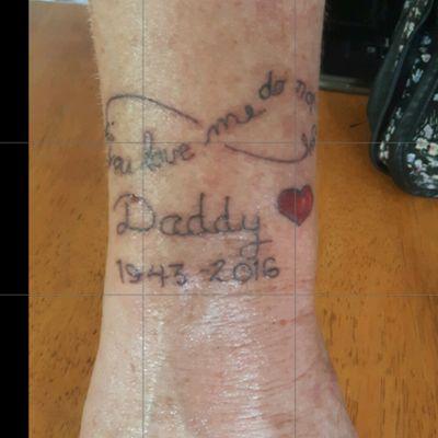 #infinity #daddy #daddysgirl #linework #lineworktattoo #heart #rip #script