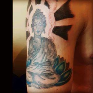 #bouddha #lotustattoo #lotus #flower #turquoise