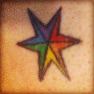 Rainbow star for gay pride!!