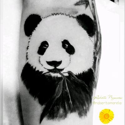 🐼 Aquela que adoramos o resultado 🙏 #panda #pandatattoo #cobertura #cover #bamboo #tattoo #bambu #tattoolovers #homenagem #arm #semfiltro #tatuagem #tattoofeminina #bear🐻 #tats #tatau #rabiscos #followme #instainspiredtattoos #tattoo2me #electricinkpigments #amotatuagem #inkedtattoo
